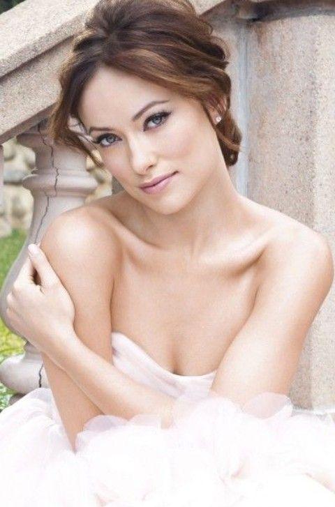 Olivia Wilde Penteados: Penteado do casamento Graceful