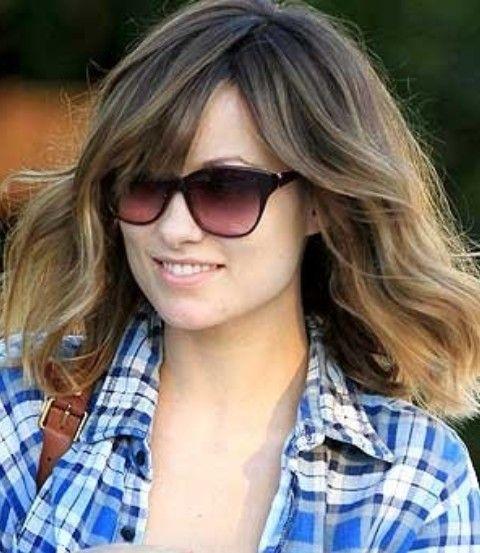 Olivia Wilde Penteados: Consideravelmente Médio Ondulado Haircut
