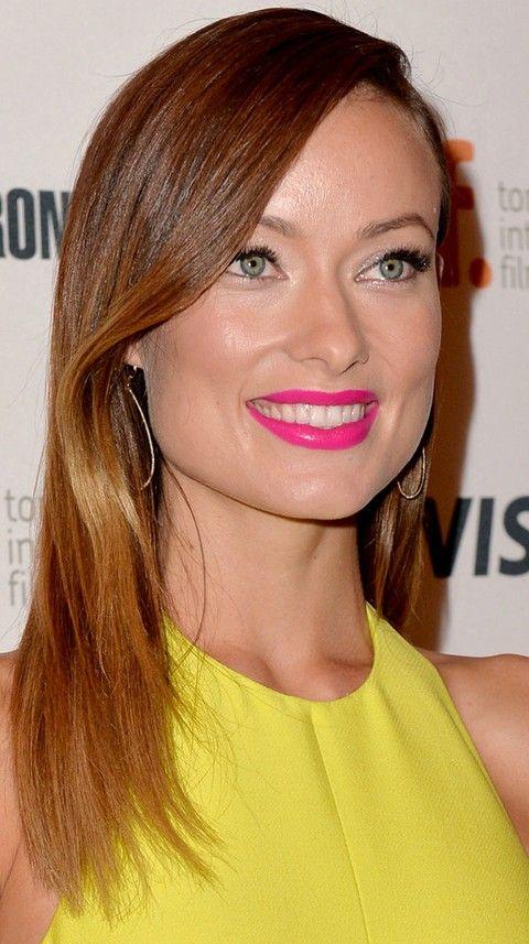 Olivia Wilde Penteados: Corte de cabelo em linha reta Radiant