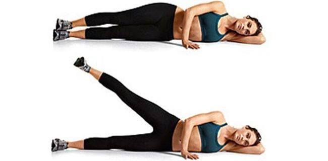 Side deitada levantar a perna