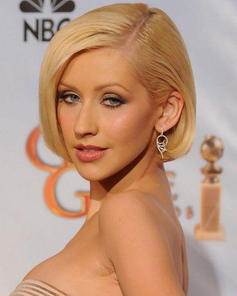 Christina Aguilera Penteados: Bob separaram-Side