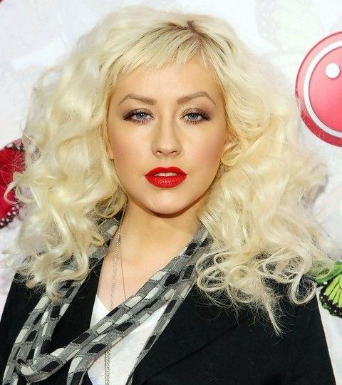 Christina Aguilera Penteados: Ondas volumosos