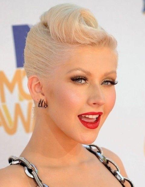 Christina Aguilera Penteados: Updo Brilliant