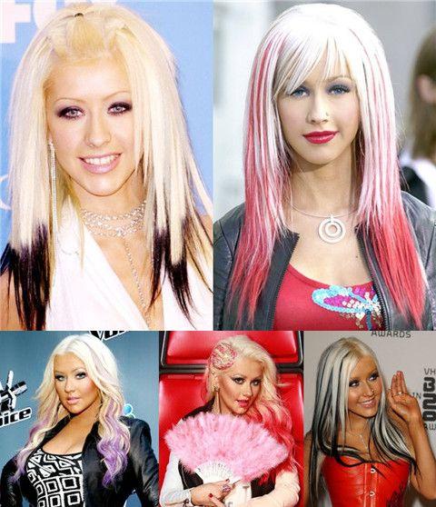 Christina Aguilera Penteados: Excelente Penteados Ombre