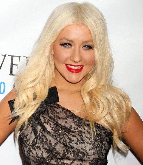 Christina Aguilera Penteados: Ondas longas doces