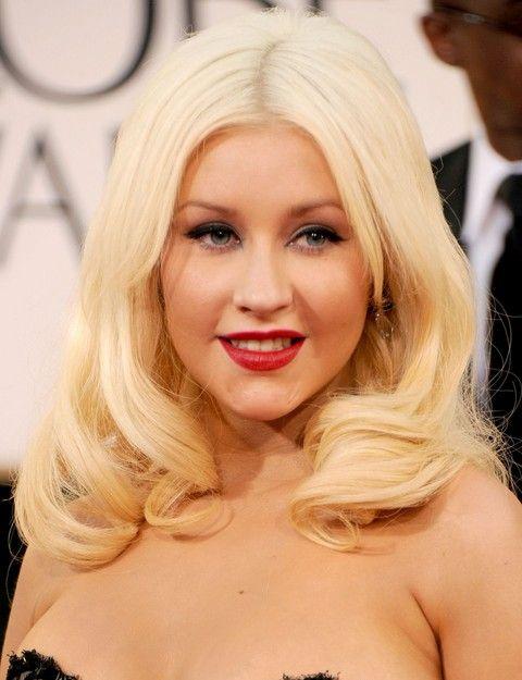 Christina Aguilera Penteados: Ondas Médias adoráveis