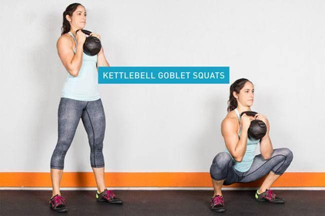 exercício de kettlebell