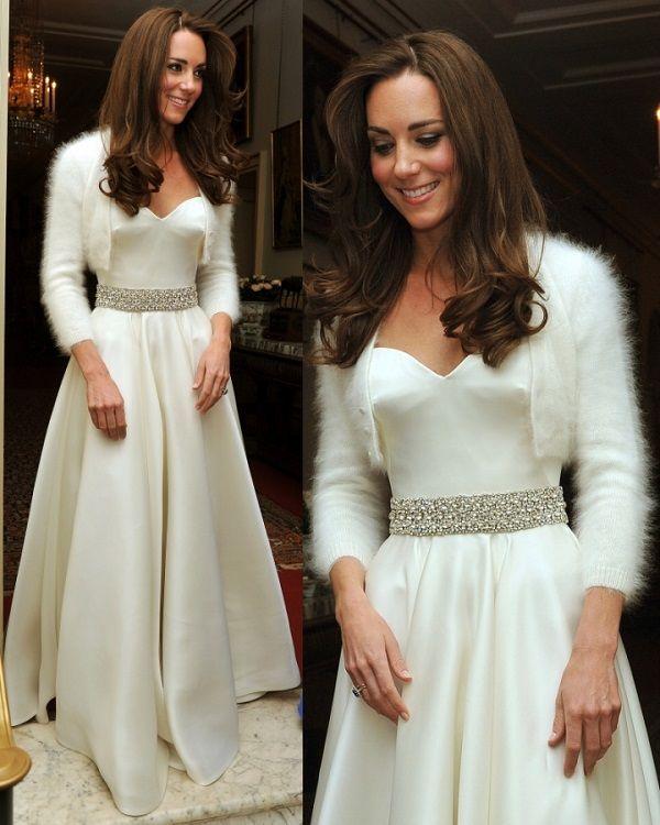 vestido de recepção Kate Middleton