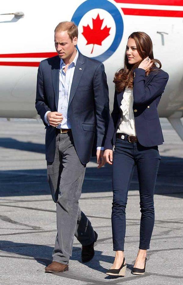 Kate Middleton Smythe blazer Canadá equipamento de vôo