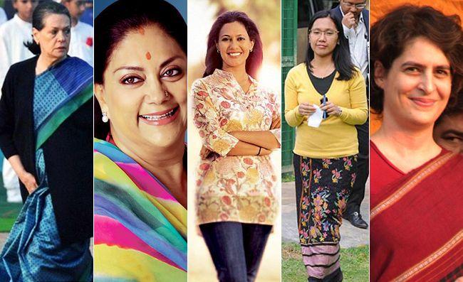 Top 5 mulheres políticas elegantes na índia