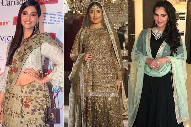 Olhares étnicos top de 2016 ostentados por celebridades de bollywood