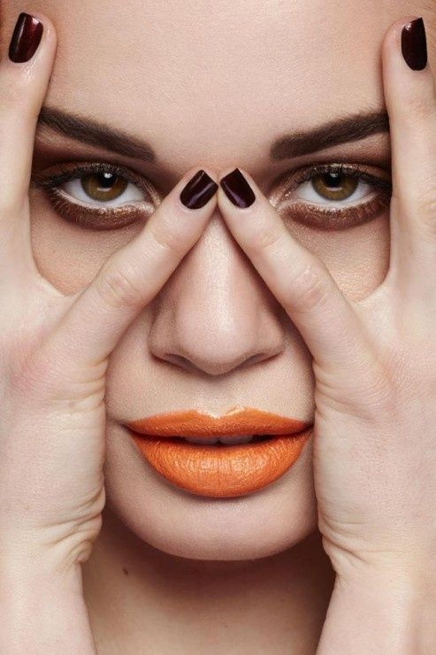Lips laranja brilhante