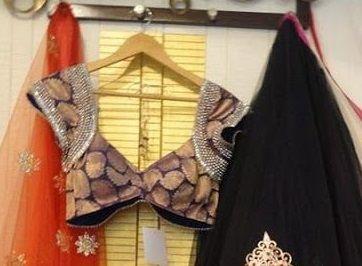 projeto blusa mais recente para metade sari # 7