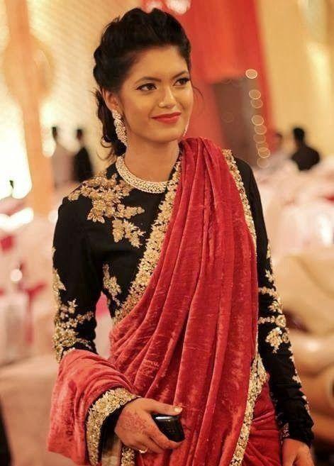 projeto blusa preta para sari meia