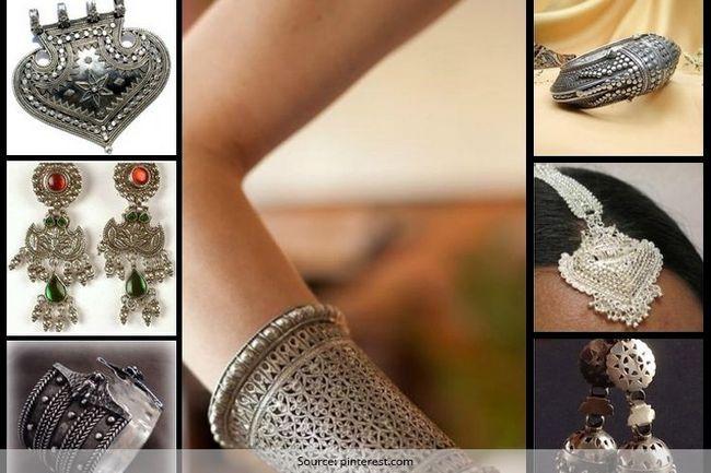 Melhores escolhas jóias chiques tribais e robustas para o sangeet e mehendi