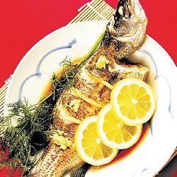 Peixes cozinhados chinês tradicional