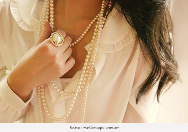 Tendendo agora: jóias de pérolas elegante