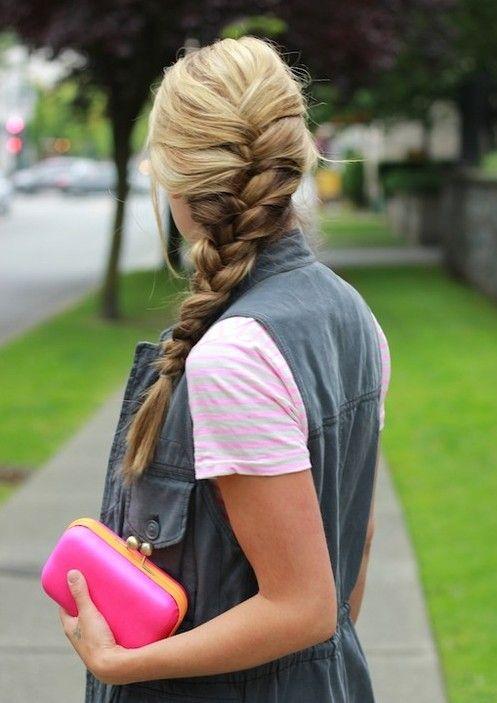 Fácil franceses penteados trançados