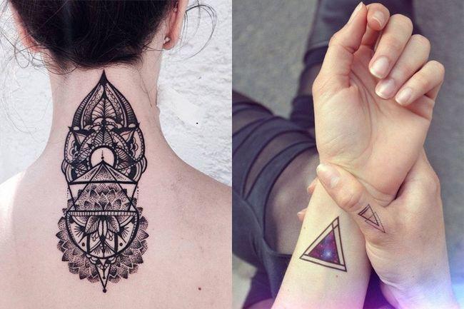Tatuagem geométrico na moda projeta para o criativo que você