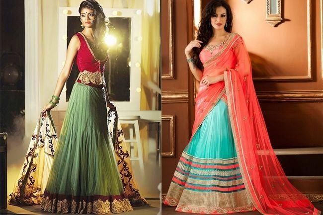 Na moda saree estilo lehenga para o seu grande dia