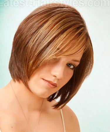Layered Médio penteado para cabelos finos