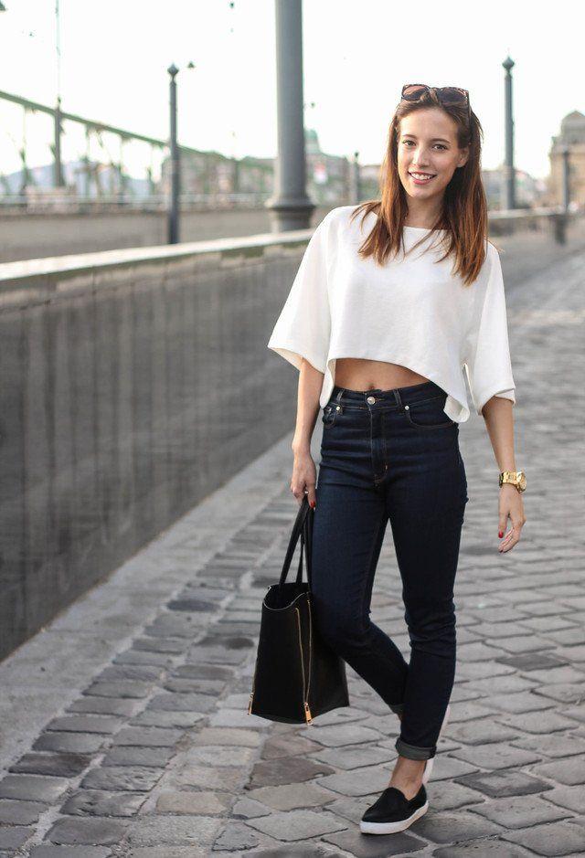 Ideia roupa na moda com altos calças de cintura alta
