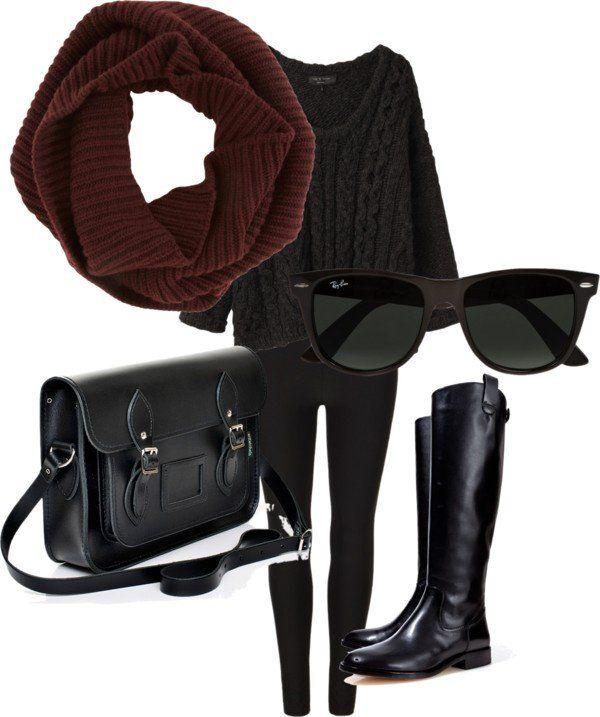 No início Idea Outfit inverno com Leggings
