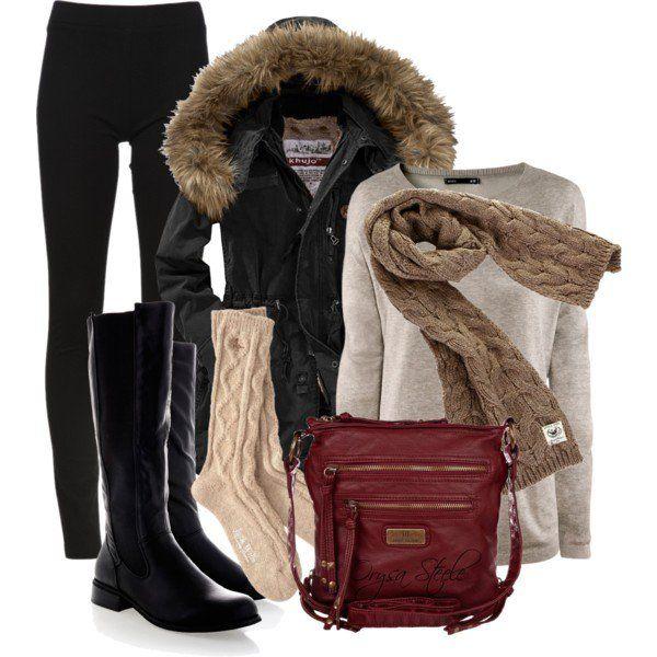 Outfit inverno com Leggings