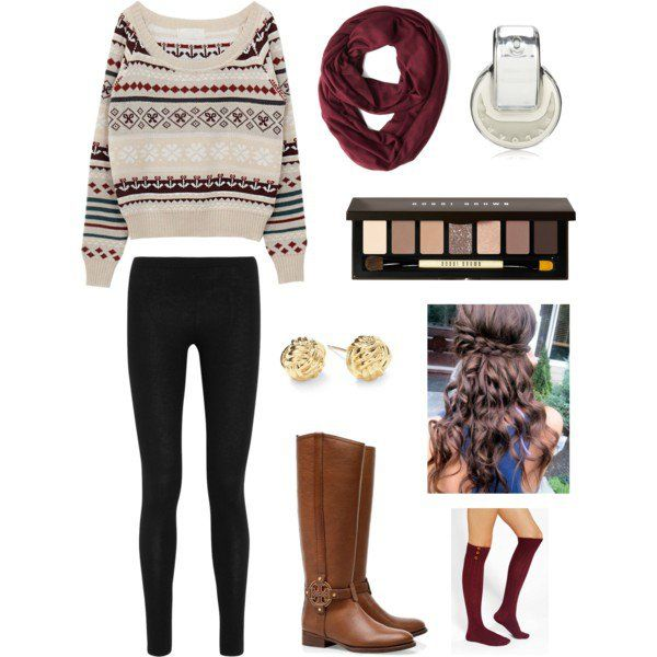 Elegante Leggings Outfit para o inverno