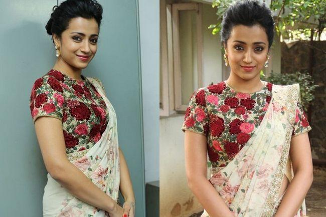 Trisha krishnan parece tão bonito que você não consegue tirar os olhos de cima dela