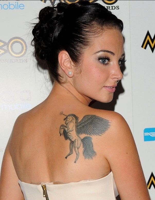 Tulisa Contostavlos` Tattoos - Upper Back