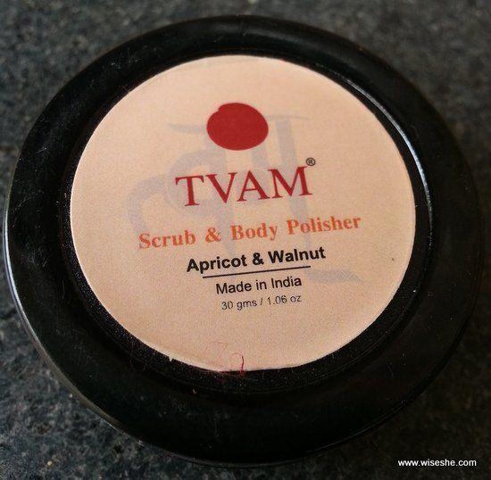 Tvām Apricot & Walnut esfoliação corporal e polidor comentário + esfoliação corporal