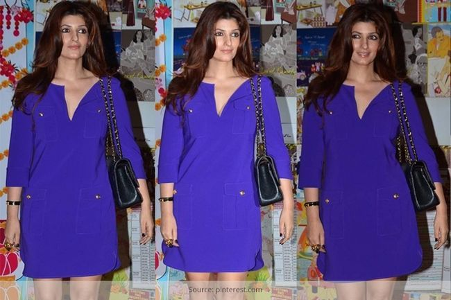 Twinkle khanna parece devastadoramente deslumbrante em seu vestido de mudança