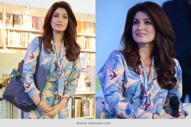 Twinkle khanna cintila em um vestido bcbg