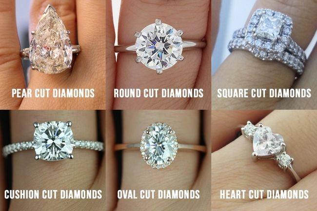 Tipos de cortes de diamantes para a sua mão