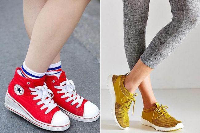 Tipos de tênis para o sapato obcecado meninas