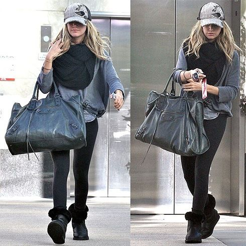uggs Ashley Tisdale com leggings