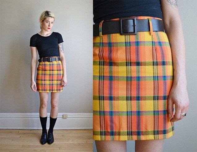 Plaid Mini Saias
