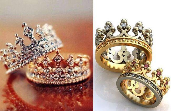 argolas coroa para casal