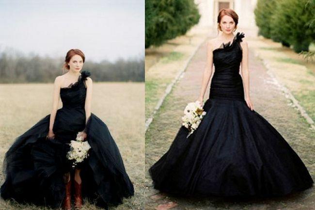 vestido de casamento preto