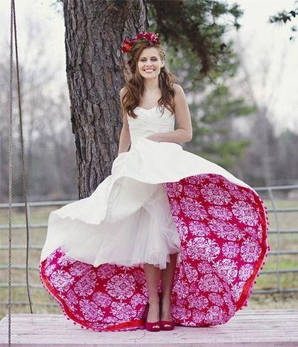 Vestidos originais do casamento