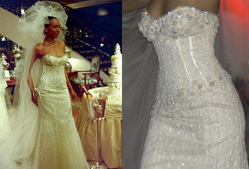 Mundo`s most expensive diamond wedding gown
