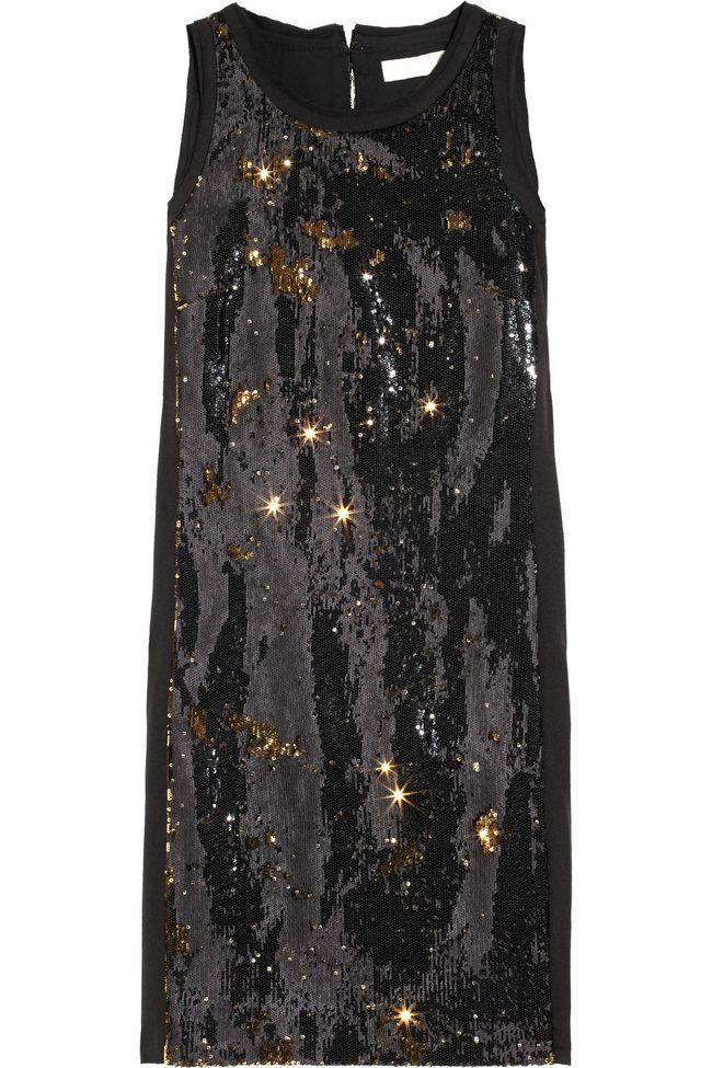 MICHAEL Michael Kors dois tons vestido de crepe embelezado-sequin