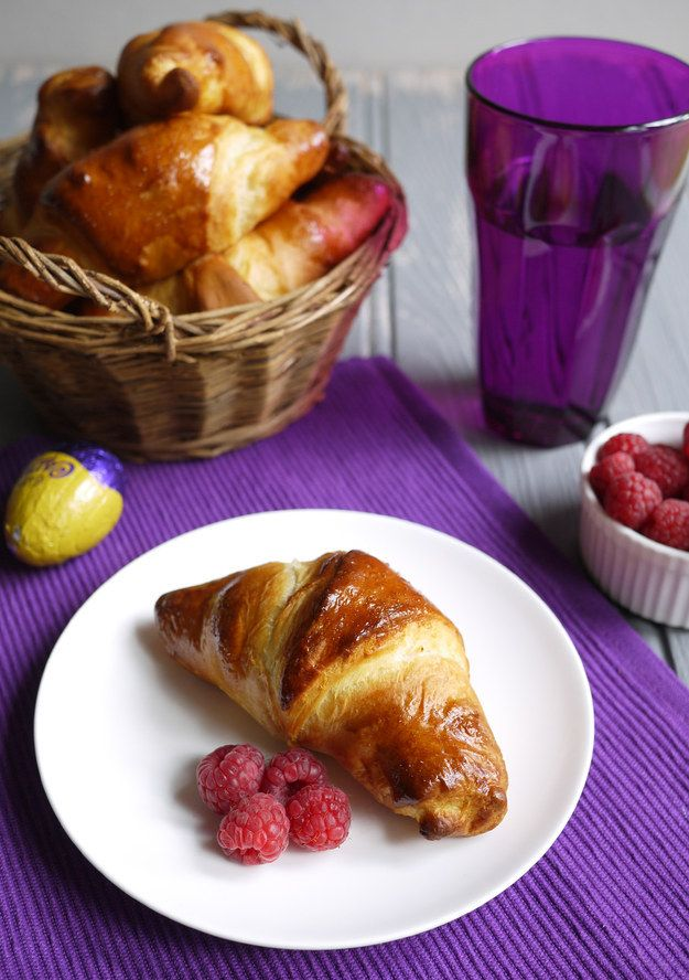Caramelo ovo Recheado Croissants Páscoa
