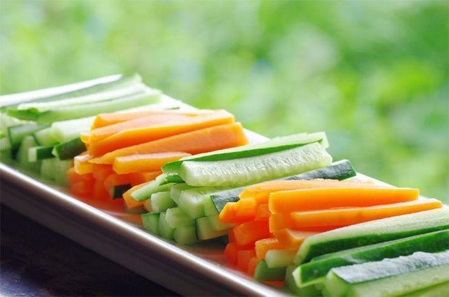 Pepino e cenoura para a saúde