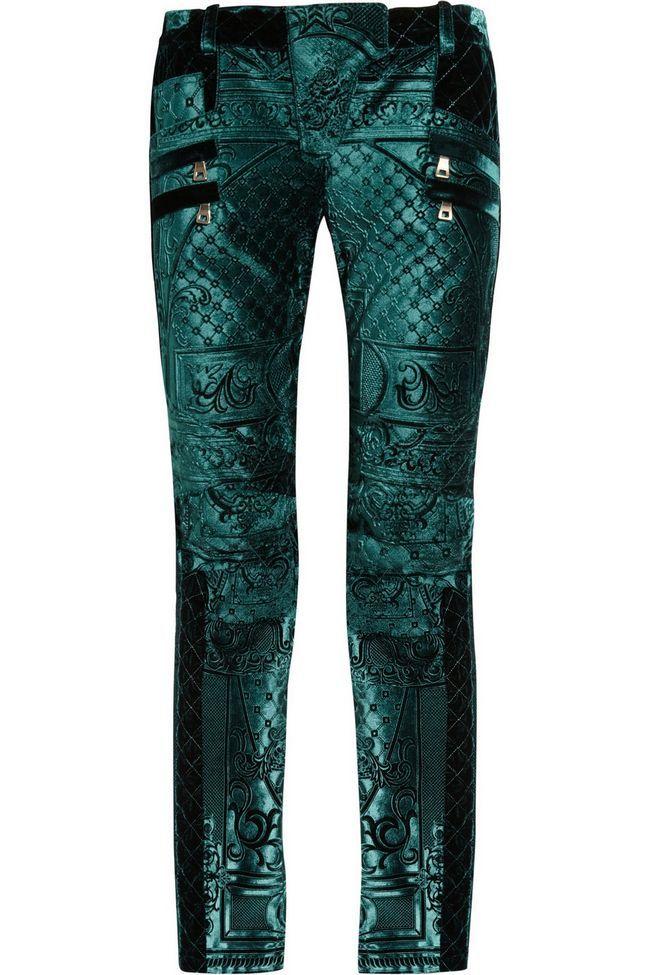 Balmain calça jeans esmeralda