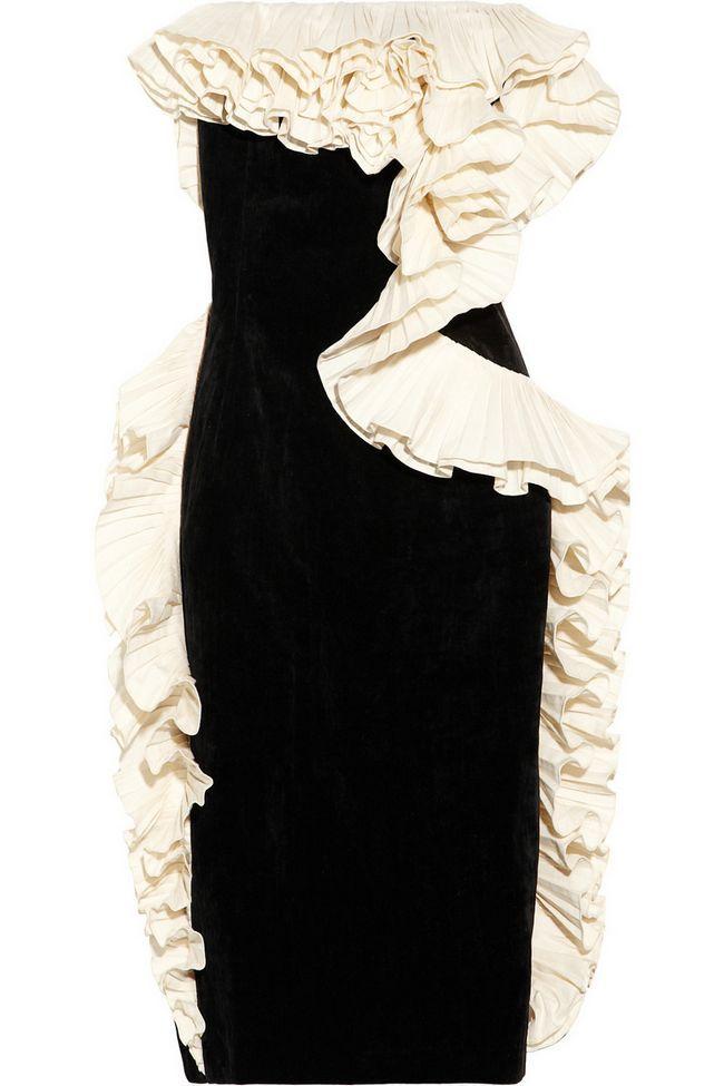 vestido de veludo Lavin