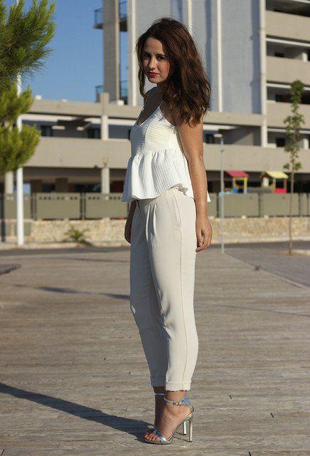 Branco, Ideia roupa com sapatos prateados