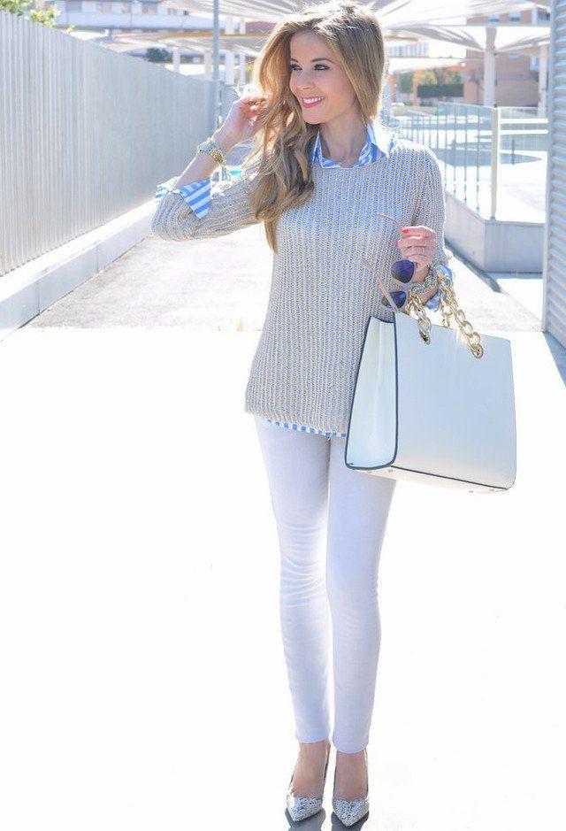 Idea bela roupa com sapatos prateados