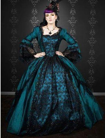 vestido gótico do vintage
